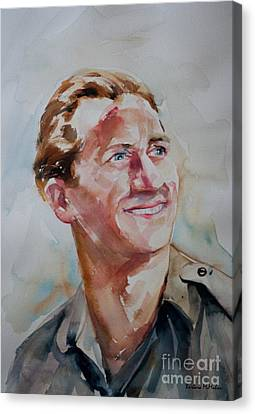 Canvas Print featuring the painting A Great Man by Barbara McMahon