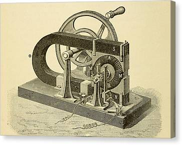 A Hand Cranked Device Onsisting Canvas Print by Everett