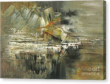 Canvas Print featuring the painting A Hardened Case by Tatiana Iliina