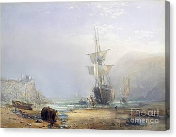 A Hazy Morning On The Coast Of Devon Canvas Print by Samuel Phillips Jackson