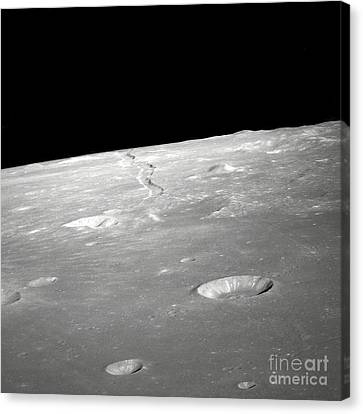 A High Forward Oblique View Of Rima Canvas Print by Stocktrek Images