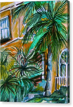 A Hotel In Sorrento Italy Canvas Print by Mindy Newman