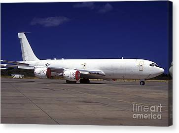 A Kc-135 Stratotanker At Hickham Air Canvas Print