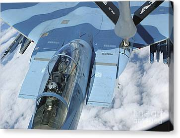A Kc-135 Stratotanker Provides Canvas Print by Stocktrek Images