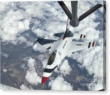 A Kc-135 Stratotanker Refuels An Air Canvas Print by Stocktrek Images