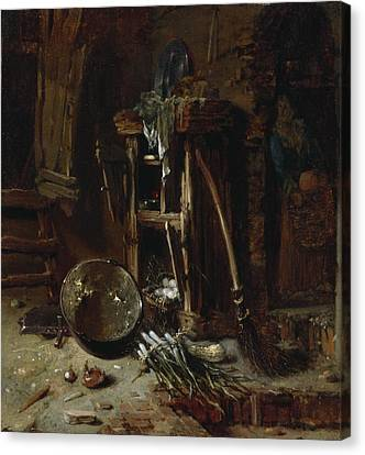 1622 Canvas Print - A Kitchen Corner by Willem Kalf