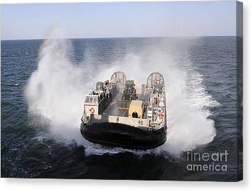 A Landing Craft Utility From Assault Canvas Print by Stocktrek Images