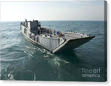 A Landing Craft Utility Transits Canvas Print by Stocktrek Images