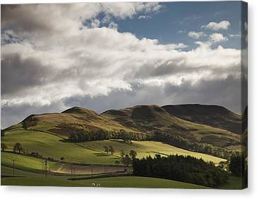 A Landscape With Rolling Hills And Canvas Print by John Short