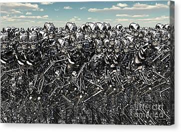 A Large Gathering Of Robots Canvas Print by Mark Stevenson