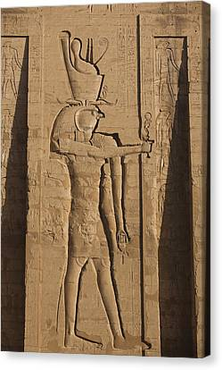 A Large Relief Of The God Horus Canvas Print by Taylor S. Kennedy