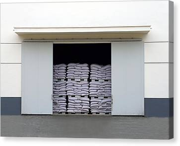 A Large Warehouse Entrance. Blocked Canvas Print by Guang Ho Zhu