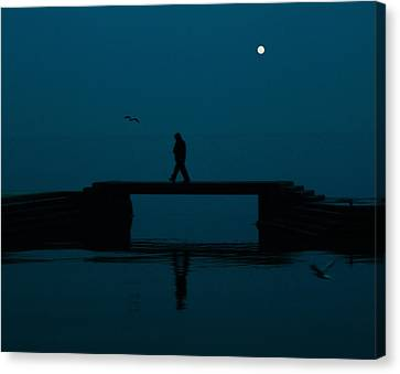 A Lone Man Canvas Print