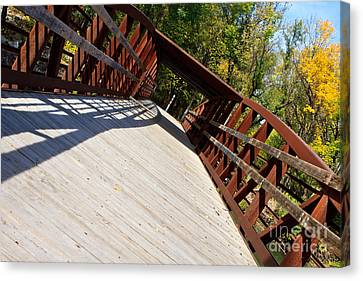 Canvas Print featuring the photograph A Long Walk by Lawrence Burry