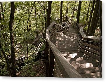 Canvas Print featuring the photograph A Long Way Down by Jeannette Hunt