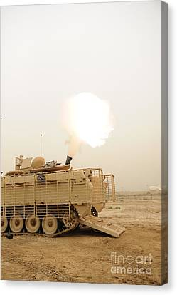 Baghdad Canvas Print - A M120 Mortar System Is Fired by Stocktrek Images
