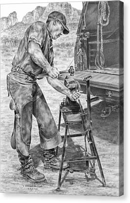 A Man And His Trade - Farrier Art Print Canvas Print