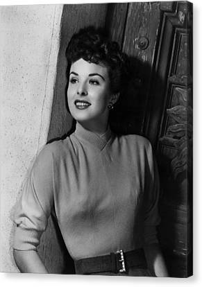 A Man Called Peter, Jean Peters, 1955 Canvas Print by Everett