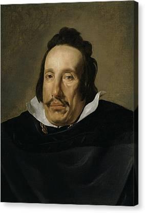 A Man Canvas Print by Diego Rodriguez de Silva y Velazquez