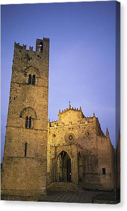 A Medieval Church And Campanile Or Bell Canvas Print by Richard Nowitz