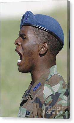 A Member Of The U.s. Air Force Academy Canvas Print by Stocktrek Images