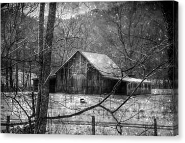 A Memory In Black And White Canvas Print by Christine Annas