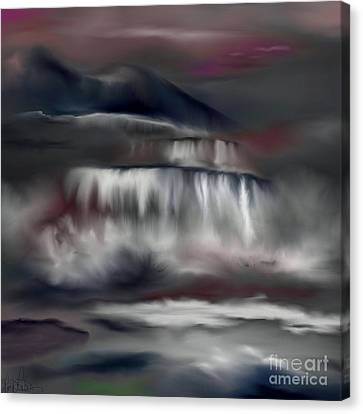 Canvas Print featuring the painting A Midnights Dream by Lori  Lovetere