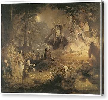 A Midsummer Night's Dream Canvas Print by John Lamb Primus