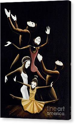 A Mime To Praise Canvas Print by Frank Sowells Jr