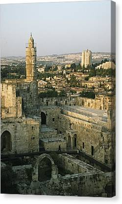 A Minaret In The Muslim Quarter Canvas Print by Joel Sartore