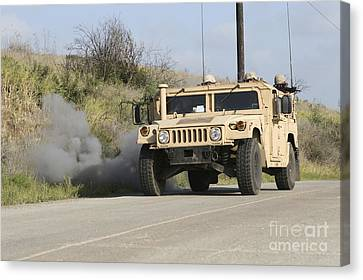 A Mock Improvised Explosive Device Canvas Print by Stocktrek Images