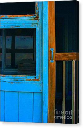 Screen Doors Canvas Print - A Mom And Pop Stay On Topsail Island by Julie Dant