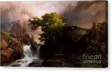 A Mountain Stream Canvas Print