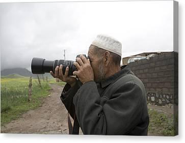 A Muslim Rural Resident Looks Canvas Print by David Evans
