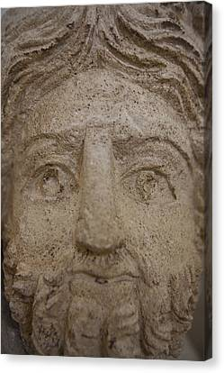 A Nabatean Bust Of Atargatis Canvas Print by Taylor S. Kennedy