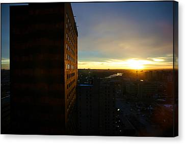 A New Day Begins Calgary Alberta Canvas Print