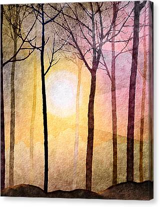 Sun Rays Canvas Print - A New Day by Kimberlee Fiedler