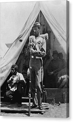 A New York State Soldier Poses Canvas Print