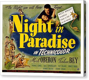 A Night In Paradise, Merle Oberon Canvas Print by Everett