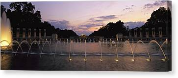 A Night View Of Memorial Plaza Canvas Print