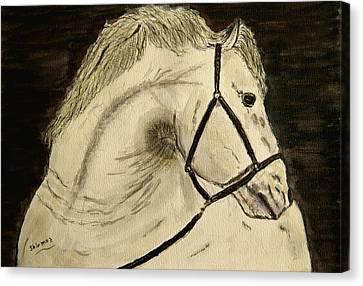 A Noble Horse. Canvas Print