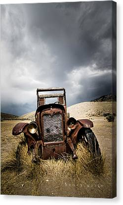 A Old Time Car Canvas Print by Henny Gorin