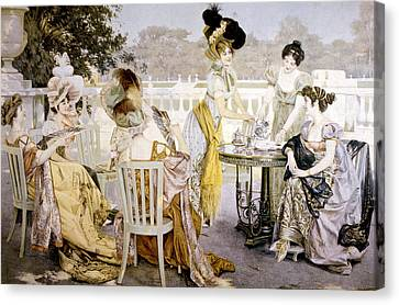 A Painting Depicting Women Wearing Canvas Print by Everett