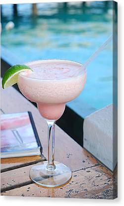 A Pink Sand Margarita Canvas Print by Hibberd, Shannon
