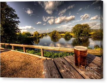 A Pint With A View  Canvas Print by Rob Hawkins