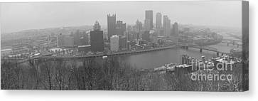 A Pittsburgh Winter Day Canvas Print by David Bearden