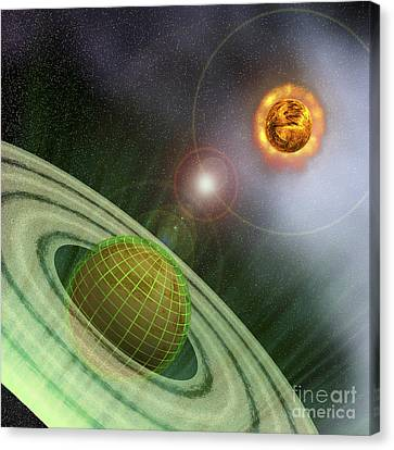 A Planet In The Future Is Surrounded Canvas Print