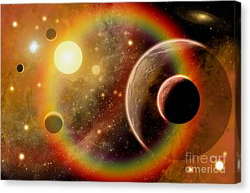 A Planetary System In The Outer Limits Canvas Print by Mark Stevenson