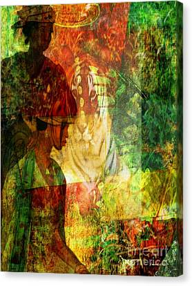 A Poly Game Y Tale Canvas Print by Fania Simon