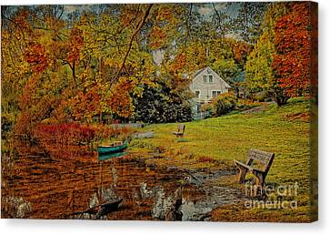 A Pond View Canvas Print by Gina Cormier